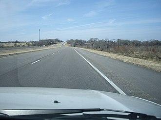 U.S. Route 175 - Westbound lane of US 175 near Eustace; photographed January 2010.
