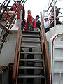 USCGC Eagle ladder to upper deck.JPG