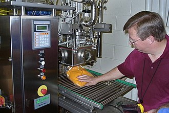 Aseptic processing - Aseptic processing of sweet potato puree and filling sterile plastic bag