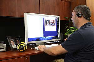 Telecommuting - The United States Marine Corps began allowing some civilian employees to telework from home in 2010