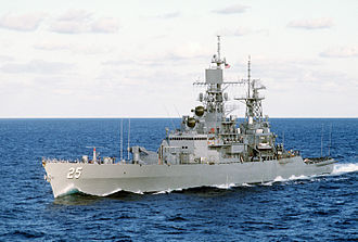 United States Navy 1975 ship reclassification - Guided Missile Cruiser USS ''Bainbridge'' (CGN-25) – formerly Frigate (DLGN-25)