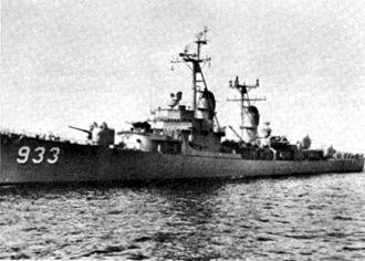 USS Barry (DD-933) - Barry around 1956.