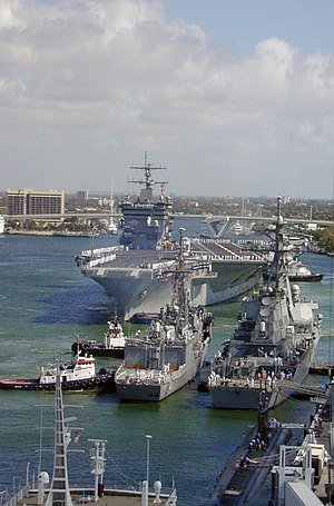 Port Everglades - USS ''Enterprise'' (CVN 65) prepares to moor at Port Everglades