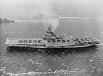 USS Essex (CVS-9) and USS Robinson (DD-562) underway off Rotterdam in December 1961.jpg