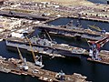 USS Essex (LHD-2) and USS Tarawa (LHA-1) at Long Beach NS in 1993.jpg