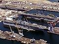 USS Essex (LHD-2) and USS Tarawa (LHA-1) at Long Beach NS in 1993.jpg