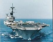 USS Saratoga (CV-60) underway 1985