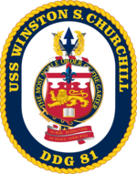 DDG-81 USS Winston Churchill Coat Of Arms
