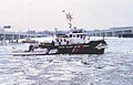 US Coast Guard Cutter Capstan at site of Air Florida crash (Potomac River, January 1982).jpg