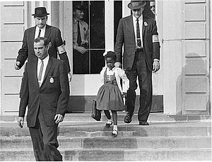 Ruby Bridges - U.S. Marshals escorted Bridges to and from school.