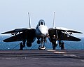 US Navy 030315-N-9593M-011 A plane captain conducts a daily inspection of his F-14D Tomcat.jpg