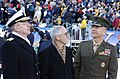 US Navy 041204-N-0295M-002 SECNAV, CNO, and Commandant of USMC at Army Navy game.jpg
