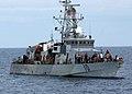 US Navy 050429-N-5526M-028 Sailors aboard the coastal patrol ship USS Firebolt (PC 10) assist survivors rescued from the Gulf of Aden.jpg