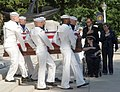 US Navy 050723-N-1026O-002 The casket of Medal of Honor recipient, retired Vice Adm. James B. Stockdale, is carried to the U.S. Naval Academy Chapel by a ceremonial guard.jpg