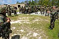 US Navy 070427-N-7367K-004 Chief Utilitiesman Tim Hittle, the R75 convoy security team military operation urban terrain (MOUT) chief petty officer, briefs U.S. Naval Mobile Construction Battalion (NMCB) 1.jpg