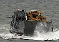 US Navy 080826-N-3392P-097 A landing craft utility assigned to Assault Craft Unit (ACU) 2 prepares to embark aboard the amphibious dock landing ship USS Carter Hall (LSD 50).jpg