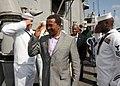 US Navy 100123-N-1429M-036 President Jakaya Mrisho Kikwete, front, of Tanzania, and the U.S. Ambassador to Tanzania Alfonso Lenhardt.jpg