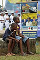 US Navy 110610-F-ET173-148 Children watch the Continuing Promise 2011 closing ceremony in Tumaco, Colombia.jpg