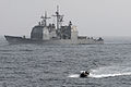 US Navy 110706-N-GL340-046 Sailors aboard a rigid-hull inflatable boat depart the Ticonderoga-class guided-missile cruiser USS Chancellorsville (CG.jpg