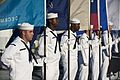 US Navy 110907-N-CZ945-005 Sailors stand at ease as flag holders during the U.S. 7th Fleet change of command ceremony.jpg