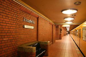 Zitadelle (Berlin U-Bahn) - Zitadelle station platform.