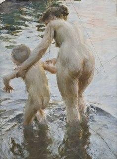 <i>En premiär</i> painting by Anders Zorn
