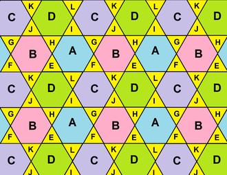 Octahemioctahedron - Image: Uniform map rectified 6 3 2 0 pattern
