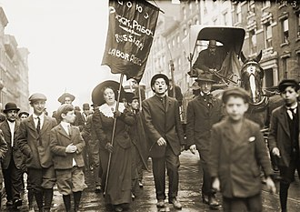 Union of Russian Workers - 1909 May Day demonstration of members and supporters of the Union of Russian Workers, New York City.