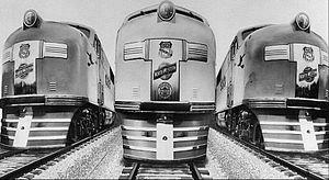 EMC E2 - Image: Union Pacific EMC E2 locomotives 1938