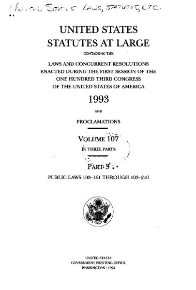 File:United States Statutes at Large Volume 107 Part 3.djvu