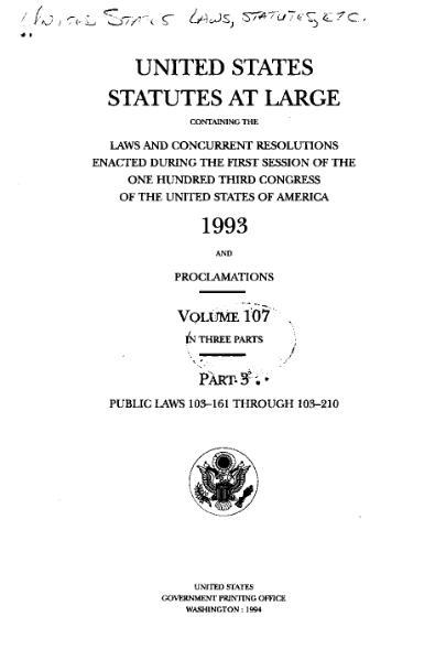 File:United States Statutes at Large Volume 107 Part 3.djvu