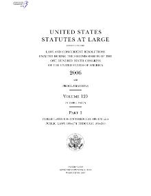 United States Statutes at Large Volume 120.djvu