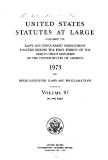 United States Statutes at Large Volume 87.djvu