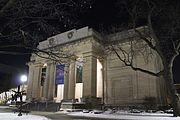 University of Michigan Museum of Art at night