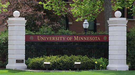 University of Minnesota entrance sign 1