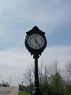 Upland, Indiana - Image: Upland Indiana clock