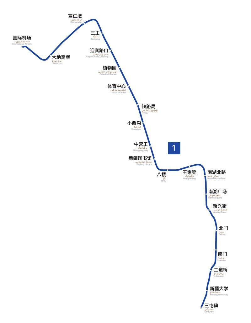 Xian Subway Map.Urumqi Metro Wikipedia
