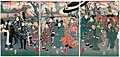 Utagawa Kunisada II - Dolls Displayed in the Temple Precincts at Asakusa - An Array of Beauties under the Cherry Blossoms.jpg