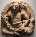 Uttar pradesh, epoca gupta, candrasala col genio vidyadhara portatore di scienza, v sec.JPG