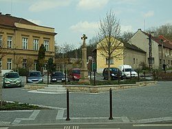 Main square in Všetaty