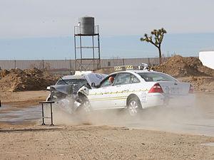 Crash test - NHTSA research crash test involving two Ford Five Hundreds.