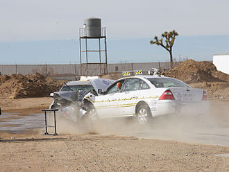 Crash test - NHTSA research crash test involving two Ford Five Hundreds.