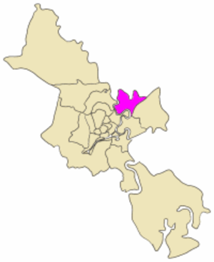 Thủ Đức District - Position in the metropolitan area of HCMC