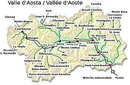 Cartina Valle D Aosta Stradale.Valle D Aosta Wikipedia