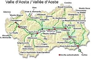 Cartina Fisica Della Valle D Aosta Da Stampare.Il Del Paesaggio Valle D Aosta
