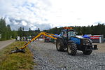 Valmet 8750 tractor with a mower.JPG