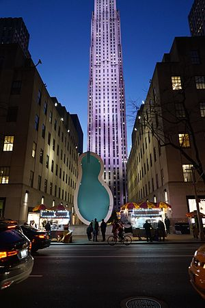 Elmgreen & Dragset - Van Gogh's Ear, 2016, in New York City's Rockefeller Center