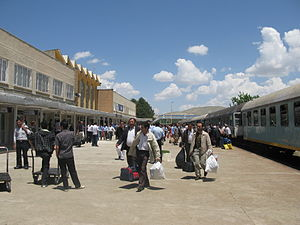 Van train station in Van, Turkey.JPG