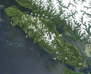 Insular Mountains - Named Ranges of Vancouver Island