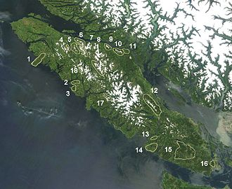 Vancouver Island Ranges - Named Ranges of Vancouver Island